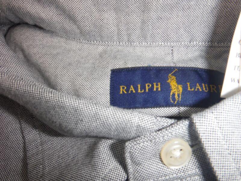 $84 Ralph Lauren Big&tall Grey Classic Fit Long Sleeve Shirt Top Size 3xlt