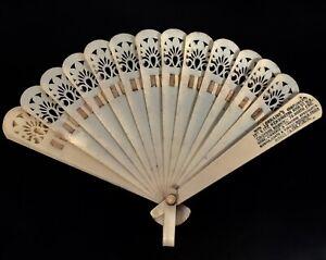 Antique Advertising - A 1920s Cellulose Fan For Lorraine's London Lingerie Shop