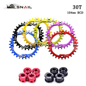 SNAIL-104BCD-Bike-Narrow-Wide-Chain-ring-30T-CNC-Aluminum-MTB-Bicycle-Chainwheel