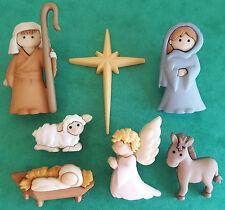 SILENT Night natività Mary Joseph Gesù Angelo Natale dress It Up pulsante Craft