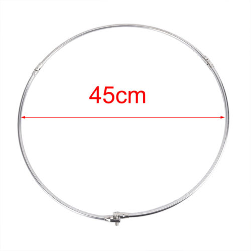 Stainless Steel Fishing Folding Net Brail Head Round Dipnet Tackle Accessory.dr