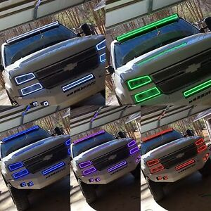 50 52 led color light bar halo rgb multicolor kit jeep chevy ford 50 52 034 034 color led light bar mozeypictures Image collections