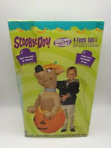 Vintage-Gemmy-Airblown-Inflatable-Scooby-Doo-In-Halloween-Pumpkin-4-Ft-In-Box