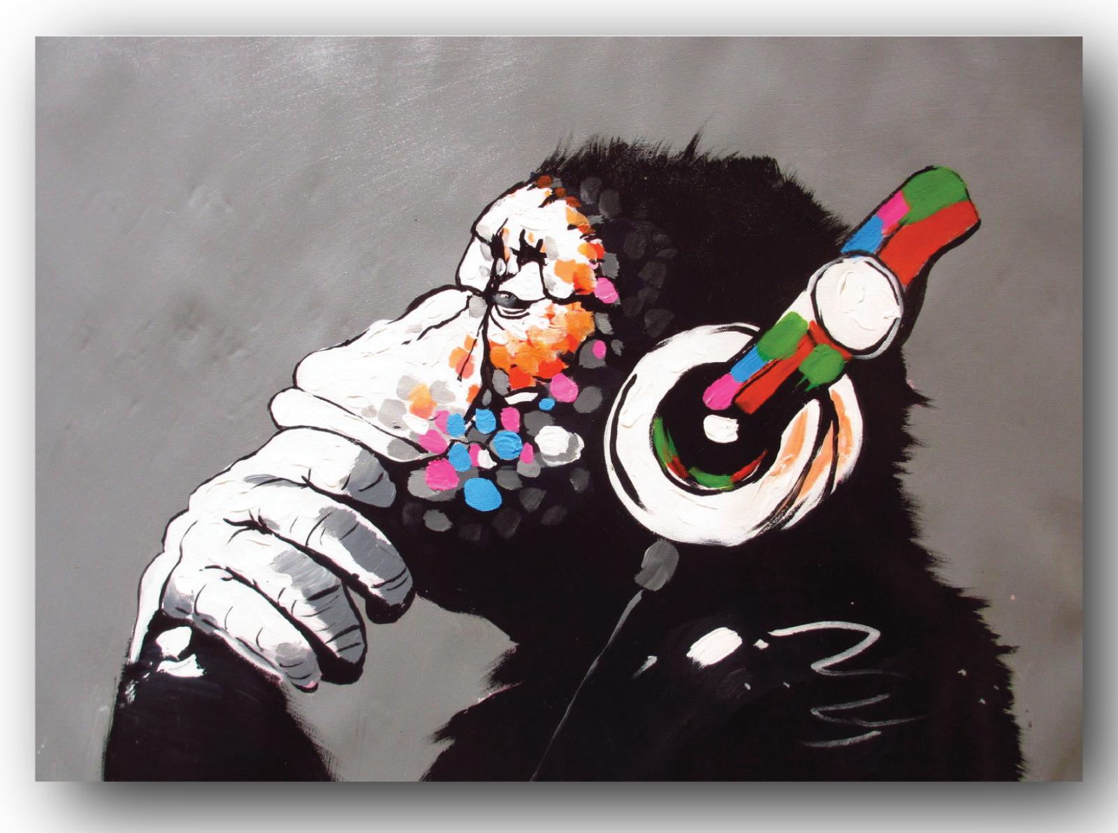 A3 Banksy Laugh Now Poster Graffiti Street Wall Art Print Popular Stencil Monkey For Sale Online Ebay