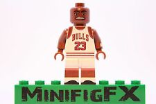 Custom Lego MICHAEL JORDAN Minifig NBA Basketball Chicago Bulls MJ Air Jordan