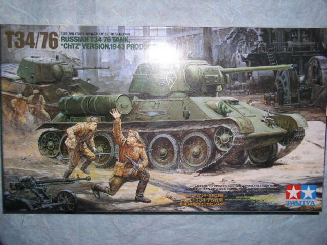 Tamiya 1/35 de Rusia T34/76 Chtz Modelo Tanque Kit #35149