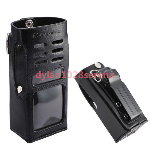Hard Leather Carrying Case For Motorola 2-Way Radio GP338 GP339 GP360 PRO7350