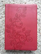 HCSB Personal Size Bible- Red Vine Embossed Imitation Leather