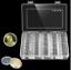 miniature 1 - Nouvellement-100-Pieces-27mm-Rond-Etuis-Piece-de-Monnaie-Rangement-Capsules