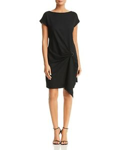 3fa8162aec254 NEW $299 KENNETH COLE WOMENS BLACK BOAT-NECK SHORT-SLEEVE COCKTAIL ...