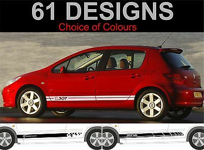peugeot 307 side stripe decals stickers side stripes 2 off