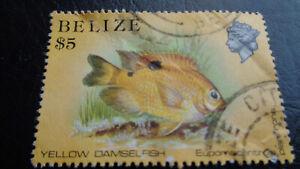 100% De Qualité Belize, Stamps, 1984, Mi-nº: 743, Poissons, Yellow Damselfish, 5 $-afficher Le Titre D'origine Dernier Style