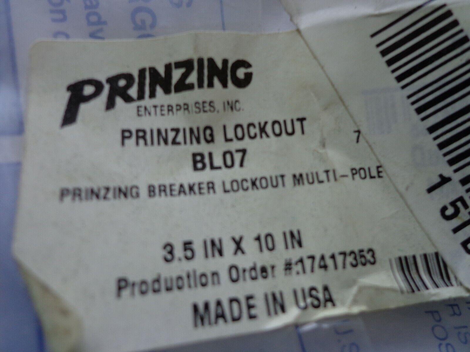 PRINZING BL07 3-PHASE BREAKER LOCKOUT  POLYCARBONATE