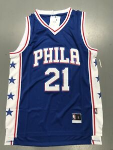 competitive price 0f7b3 a14e6 Details about Philadelphia Sixers Embiid Jersey blue Color Adult Size