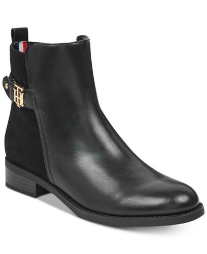 Tommy Hilfiger Womens Irsela Leather Closed Toe Ankle Size 5.0 US Black multi