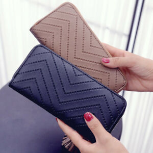 Women-PU-Leather-Long-Clutch-Wallet-Card-Holder-Lady-Purse-Handbag-Envelope-Bag