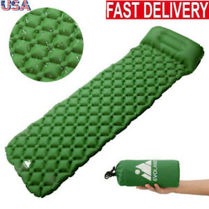 Self-Inflating-Mat-Outdoor-Tent-Sleeping-Pad-Hiking-Pillow-Air-Mattress-Camping