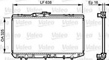 VALEO Engine Cooling Radiator 731713 Fits TOYOTA Starlet Hatchback 1989-1992