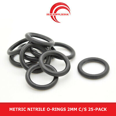 O-Ring Seals Buna-N; 19mm X 22mm X 1.5mm Width; Sealing Gasket Pack of 10