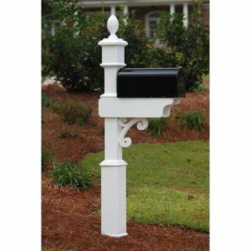 FANCY HOME PRODUCTS MAILBOX POST DECORATIVE MAIL BOX STANDS MBP-4-02-A