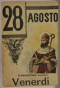 Santo Del Giorno Calendario.Dettagli Su Foglio Di Calendario Santo Del Giorno S Agostino Vescovo 28 Agosto 900 Sa469