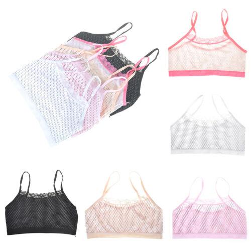 Teenage Underwear For Girl Children Girls Cotton Dot Lace Young Training Bra XDU