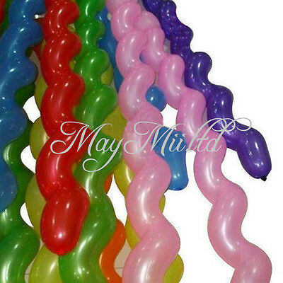 Good 50Pcs Colors Giant Latex Rubber Helium Spiral Balloons Wedding Birthday