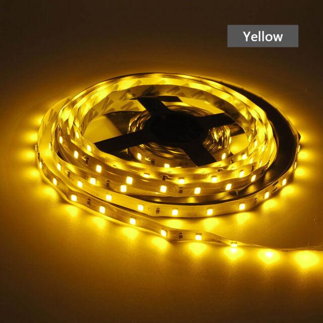 16Ft 5M 300 LED Strip Light 3528 SMD RGB Ribbon Tape Roll Waterproof DC 12V Lamp