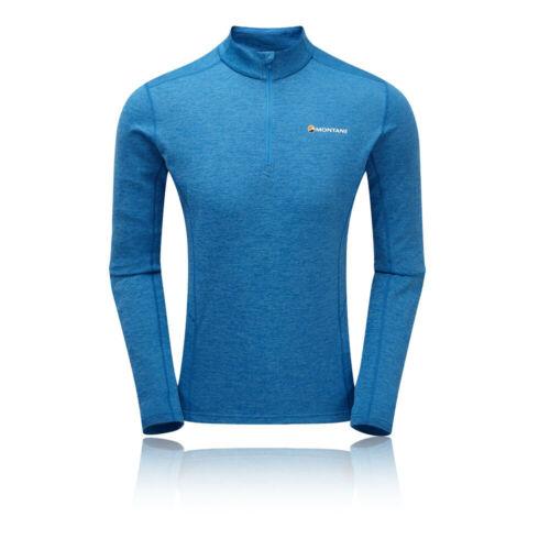 Montane Mens Dart Zip Neck Top Blue Sports Outdoors Half Breathable