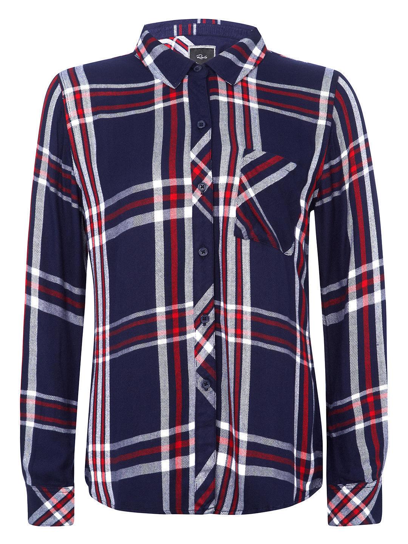 RAILS Clothing Hunter Plaid Button-Front Shirt Colour Patriot rot Weiß X -Small