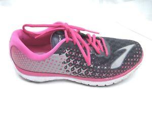 Brooks Größe 9.5B 9.5B Größe Pure Flow 5 schwarz pink Damenss ladies running fda034