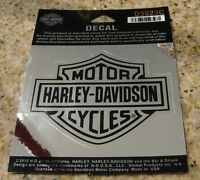 Harley Davidson Bar & Shield Logo 4 X 3 Chrome Decal Sticker Official Licensed