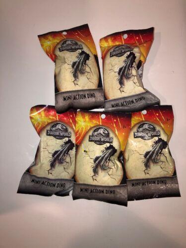 Jurassic World Mini Action Dino Blind Bags Five sealed packs Mattel 5