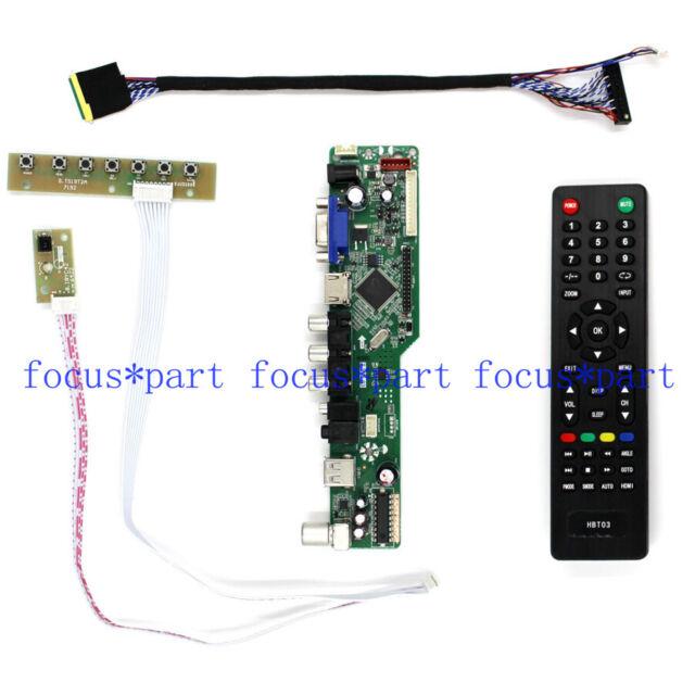 B156HW01 LP173WF1 TV/HDMI/VGA/AV/USB/AUDIO LCD Control Board For 1920x1080 LCD