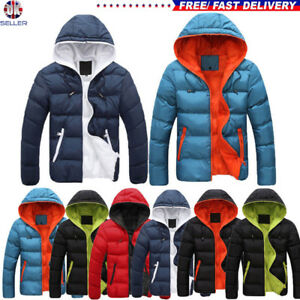 Mens-Padded-Bubble-Coat-Hooded-Quilted-Puffer-Jacket-Warm-Winter-Fashion-M-XXXXL