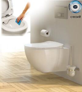 Creavit Spülrandlos Hänge Wand Wc Toilette Ohne Rand Inkl Softclose