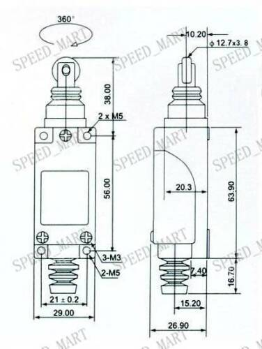 1no 1nc spdt momentary limit switch me