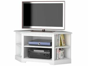 eck fernsehtisch tv bank lowboard eckschrank schrank kiefer holz wei landhaus ebay. Black Bedroom Furniture Sets. Home Design Ideas