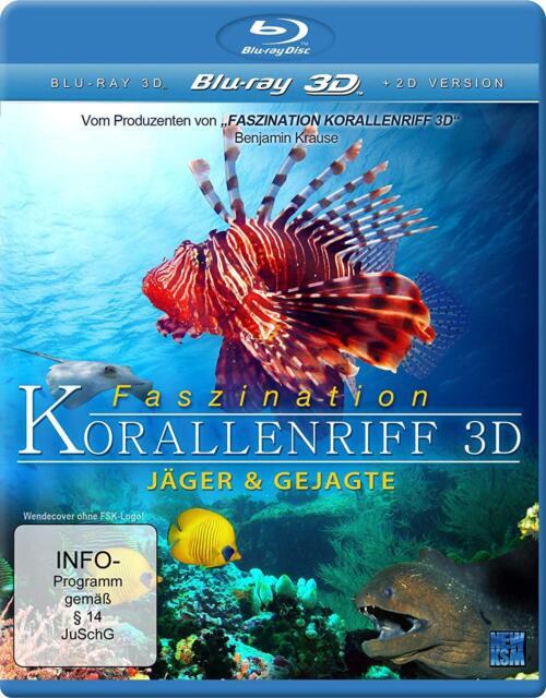 BLU-RAY  - FASZINATION KORALLENRIFF 3D - JÄGER & GEJAGTE  NEU/OVP