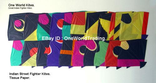 Indian Fighter Kites Set. USA. 10 Kites + Kite Line + 1 Spool. Patang. Gudda.
