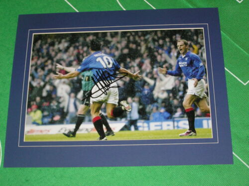 Glasgow Rangers Michael Mols Signed & Mounted Goal Celebration Photograph