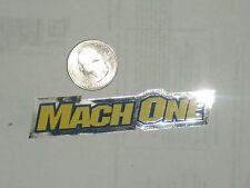 Old mid school NOS GT Mach one frame chainstay bmx bike decals on chrome sticker