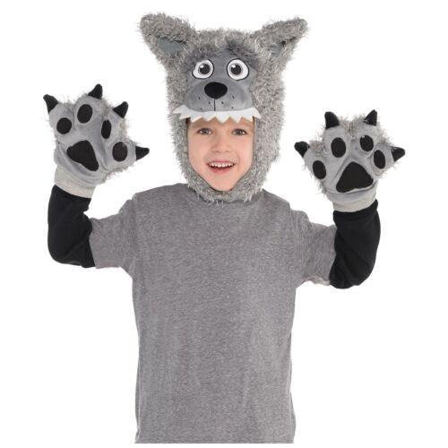 Kids Boys Girls Wild Fancy Dress Book Week Accessory Kit Animal Costume Hat Paws