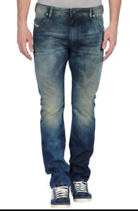 Diesel-Men-Jeans-32-W-x-36-Viker-882T-Aged-Distressed-Authentic-New-with-Tags