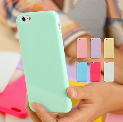Silicone Cute Candy Rubber Gel Tpu Case Cover for iphone SE  Samsung S7 S7 edge