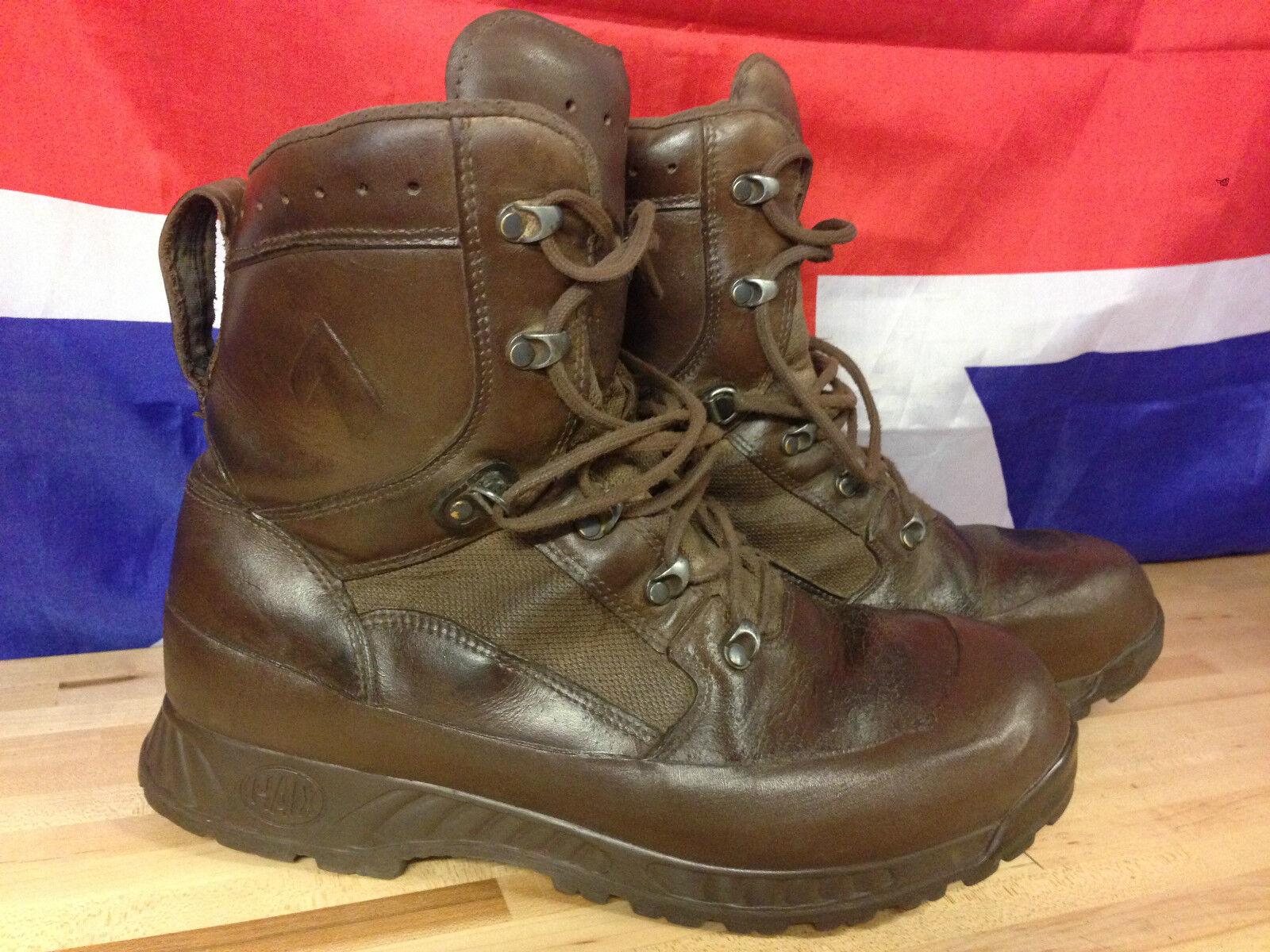 Genuine British Army Braun Stiefel HAIX High Liability Combat Stiefel Braun Used Gr 1 Many Größes c5fac7