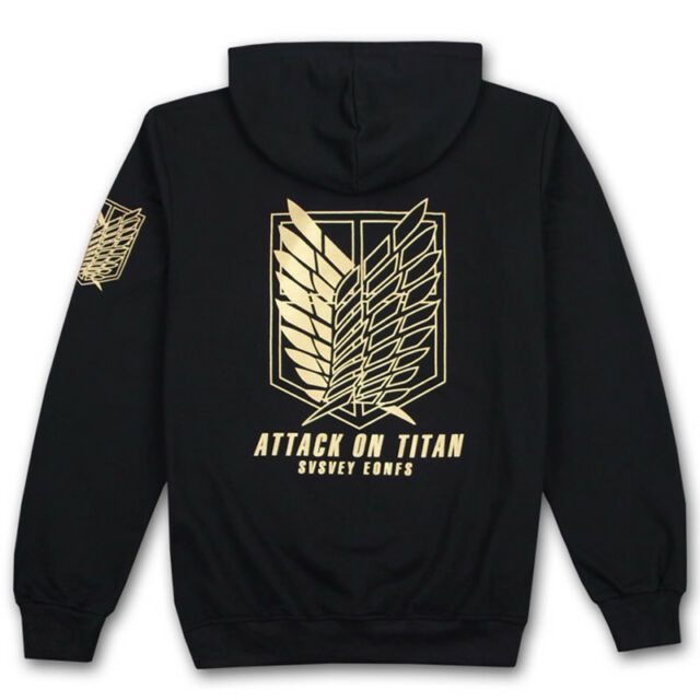 Attack On Titan Survey Legion Eren Wings Hoodie Pullover SweatShirt Cosplay Coat