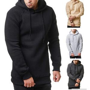 Mens-Winter-Slim-Hoodie-Hooded-Sweatshirt-Pullover-Coat-Jacket-Outwear-Sweater