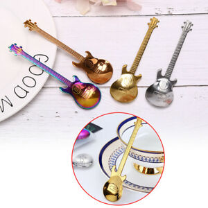 4PCS-Guitar-Shaped-Stainless-Steel-Coffee-Spoon-Demitasse-Spoons-For-Cake-SpWFI