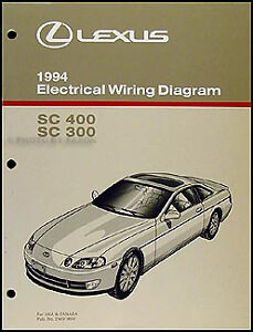 new 1994 lexus sc 300 400 wiring diagram manual sc300 sc400 rh ebay ie